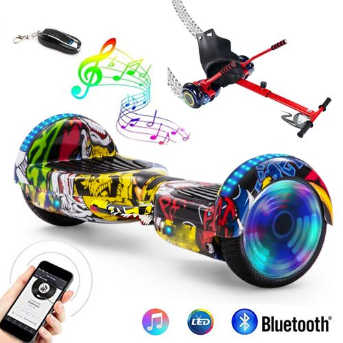 Scooter electrico smart balance manilla bt + control + hover kart Comic