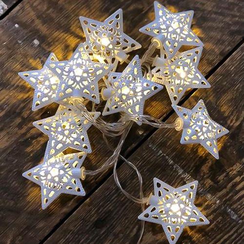 Guirnalda De Luces Led  Estrellas Marroquí  2 m  Cálida