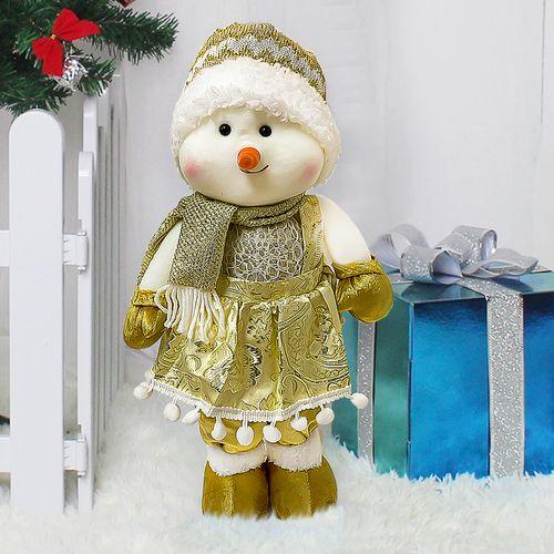 Muñeca Nieve  Navidad 45 cm  Dorado Decoración