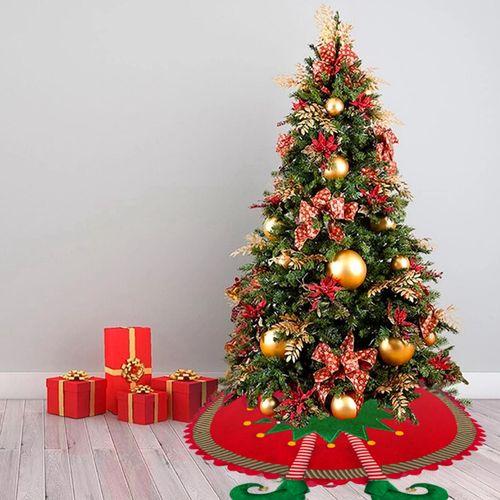 Pie Falda de Árbol de Navidad Con Pierna de Elfo